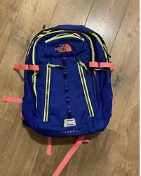 The Surge 2 Ii Backpack 17 Laptop Blue Neon Pink Excellent Condition