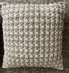 Magnolia Home Jamie Square Throw Pillow in Ivory Grey Joanna Gaines