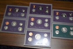 United States Mint S Proof Set Lot Of 7 1985878990919394 Coin Collection