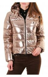 Polo Metallic Quilted 750 Down Jacket Water Repellent Women's Sz Xl