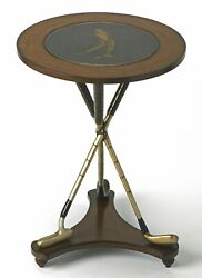 Golf Pro Side Table - Round Table With Stylized Golf Club Legs - Free Shipping
