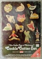 """Vintage Kraft """"12 Days Of Christmas"""" By Chilton Vintage Cookie Cutter Set In Box"""