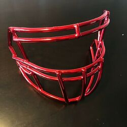 Red Chrome Riddell Speed S2bdc-sp 94921sp3 Football Facemask - Very Good