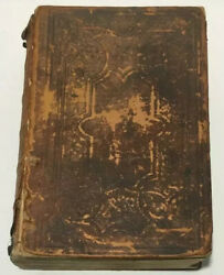 1859 Large Antique Holy Bible Leather Pre Am. Civil War Old And New Testament