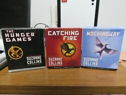 Lot Of 3 Hunger Games Trilogy Audiobooks Cds Catching Fire Mockingjay Free Ship