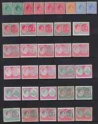St. Kitts And Nevis 1938-50 Kgvi Set Incl All Shades And Perf Vars -mnh-cat £1025+