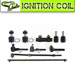 Fits 97-06 Jeep Wrangler+tj10x Front Ball Joint Tie Rods Suspension Kit