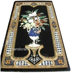 Decent Pattern Inlay Marble Dining Table Top Handmade Office Meeting Table Top