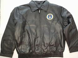 Air Force Leather Bomber Jacket With Logo Military Leather Jackets X X Large