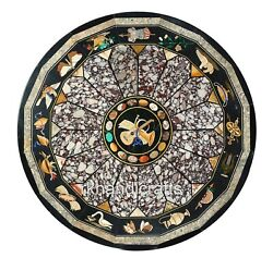 Round Shape Dining Table Top Handmade With Exclusive Design Hall Room Table Top