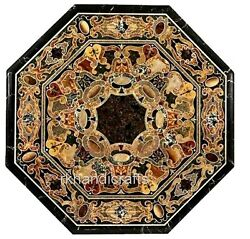 Octagon Marble Coffee Table Top Stone With Mosaic Art Kitchen Table Home Decor