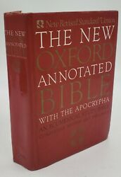 Vintage 1991 Revised Standard New Oxford Annotated Hardcover Bible Book Religion