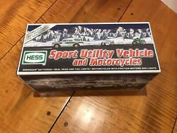 Nib 2004 Hess Sport Utility Vehicle Truck And Motorcycles Never Out Of Box Mint