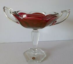Westmoreland Glass Ruby Flash Sweet Meat-from The Colonial Line Co16