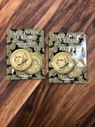 He Harris Presidential Dollars Pandd Vol 1 And 2 2007-2017 Coin Folders Album Book