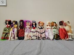 Rare Set Of 10, Arco, Vintage Dolls Of The World Collectibles And Antique 1960's