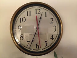 Stromberg Vintage Working Brass Clock With Lanshire Motor Usa Made 11 1/2