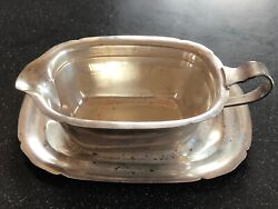 Vintage - Mayflower Reed And Barton Gravy Boat With Underplate 7 3/8andrdquo Sterling