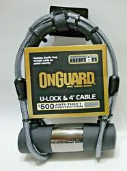Onguard One Mean Bike Lock U-lock And 4-foot Cable Security Rating 4 High 255770