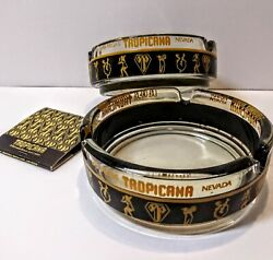 2 Vintage Las Vegas Ashtrays From The Tropicana Hotel Casino With Matches