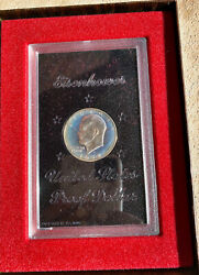 1972 Eisenhower Silver Dollar Coin Uncirculated In Box Us Mint Nice