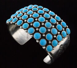 5-row Natural Sleeping Beauty Turquoise Bracelet By Navajo Artist Happy Piasso