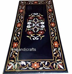 Rectangle Marble Hotel Table Top Inlay Art Dining Table With Carnelian Stone