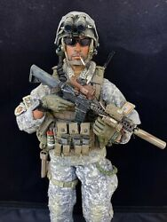 1/6 Scale Custom Us Special Forces Green Beret Acu Kitbash Action Figure Seal