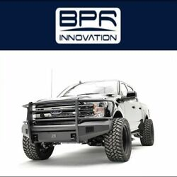 Fab Fours For 18 Ford F-150 Black Steel Elite Full Guard Bumpers - Ff18-r4560-1