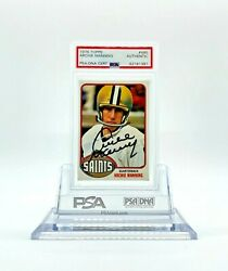 1976 Topps Football 485 Archie Manning New Orleans Saints Psa Authentic