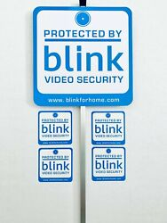 Blink Yard Sign With 4 Double Sided Window Stickers 28 Aluminum Stake
