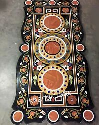 Royal Pattern Inlaid Office Conference Table Top Marble Dining Table Home Decor