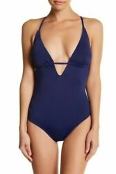 Tart Swim Hera One Piece Swimsuit Solid Navy Blue Xs Nwts 121 Crisscross Back