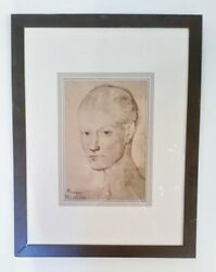 Pablo Picasso Head Of A Boy Framed Print
