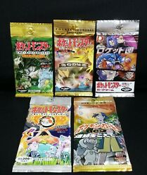 Pokemon Card Booster Pack 5series Sets Firstjunglefossilteam Rocketdiscovery