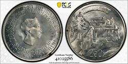 1963 Luxembourg 250 Franc Pcgs Ms66 Silver Registry Coin Km 53.1 Charolette