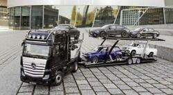118 Mercedes Actross And Car Transporter Collectors Set Sold Out Rare