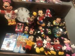Minnie And Mickey Mouse Lot Of 25 Toys And Collectables