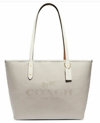 🌺🌹coach Horse And Carriage Jacquard City Zip Tote Original Packaging