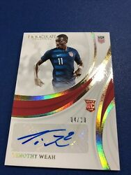 Panini 2018-19 Immaculate Soccer Timothy Weah 4/10 Rc Gold Auto Usa Lille Psg