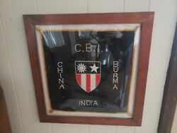 Us Wwii Theater Made Cbi Patch China Burma India Banner Flag Pillowcase Framed