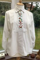 Vintage Cote A Cote Ladies Embroidered Blouse