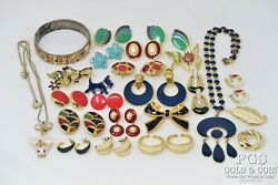 Vintage Costume Jewelry Asst Enamelm Many Signed Asst Types,pieces 20501