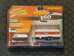 Johnny Lightning Tow And Go Limited Edition 1965 Vw Transporter And Trailer
