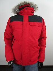 Mens Tnf L The Gotham Iii 550-down Warm Insulated Winter Jacket Red