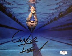 Caeleb Dressel Signed Autographed Olympic Gold Swimming 8x10 Photo Psa/dna