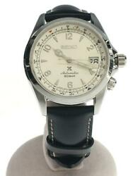 Seiko Prospex Alpinist 6r35-00e0 Analog Leather Automatic Working Men From Japan