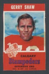 1971 Bazooka O-pee-chee Topps Cfl 9 Gerry Shaw Always Buying Complete Rare Boxes
