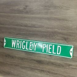 Chicago Cubs Wrigley Field Street Sign 36x6