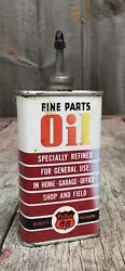 Vintage 4 Oz Phillips 66 Fine Parts Oil Oiler Tin Can Gas And Oil Advertising